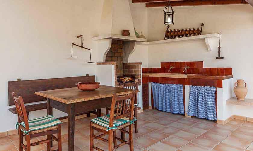 Außenküche Finca Mallorca Norden PM 3929