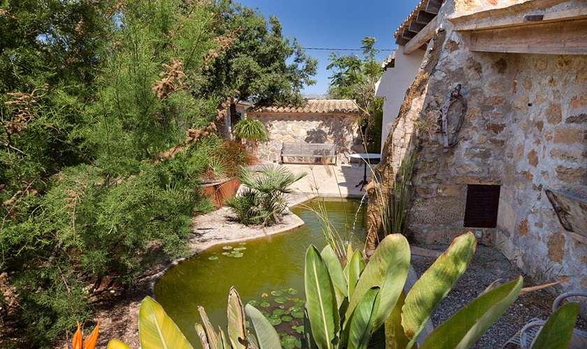 Teich Ferienhaus Mallorca Pollensa PM 397