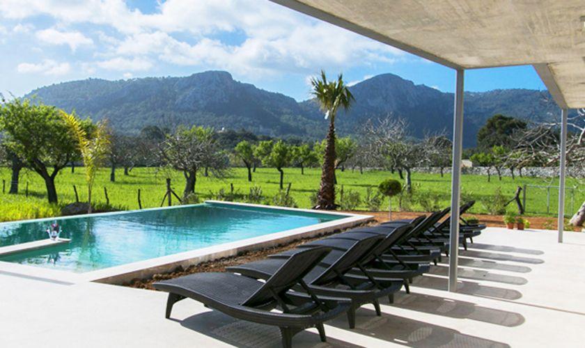 Terrasse und Pool Ferienvilla Mallorca PM 3981