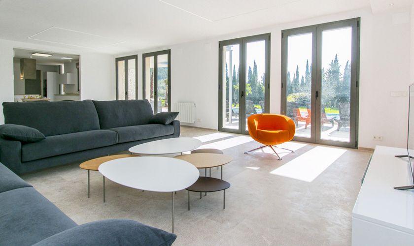 Wohnraum Ferienvilla Mallorca Norden PM 3981