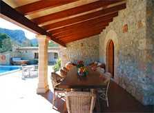 Terrasse Finca Mallorca Norden für 8 Personen PM 398