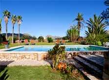 Pool und Blick Finca Mallorca Pollensa 10 Personen PM 3992