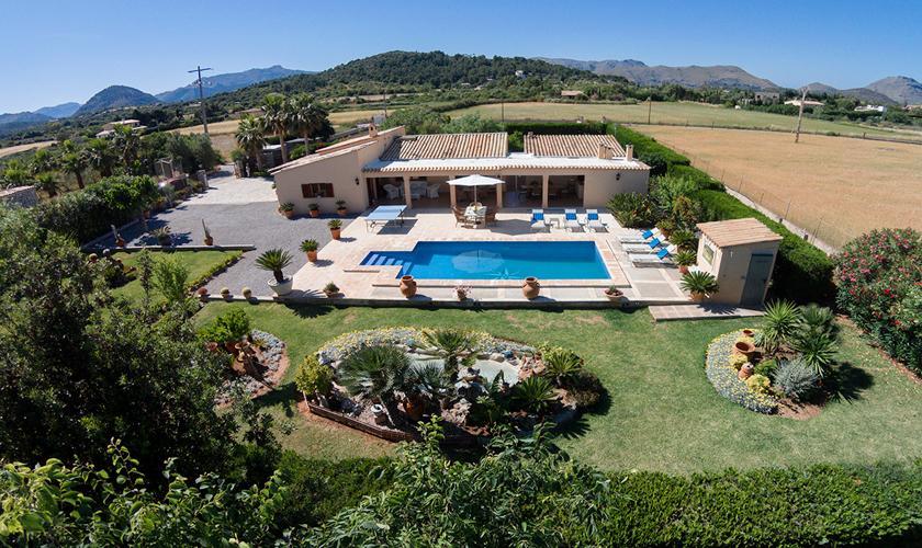 Blick auf die Finca Mallorca Nordküste PM 3997
