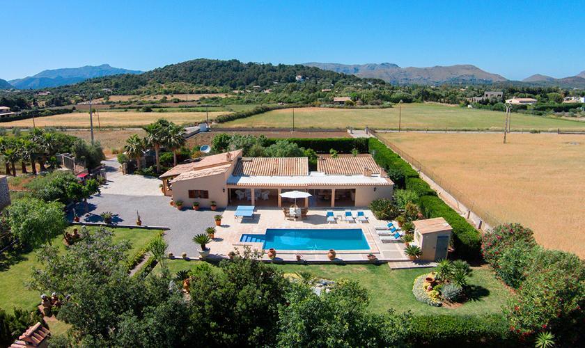 Blick auf die Finca Mallorca Norden PM 3997