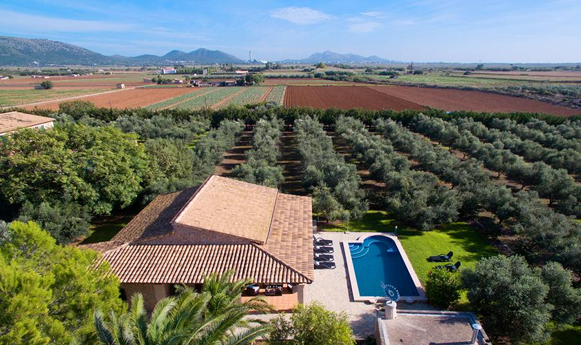 Blick auf die Ferienfinca Mallorca Norden PM 3999