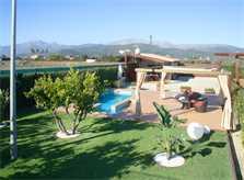 Blick auf den Garten und die Finca Mallorca 2 Personen PM 426