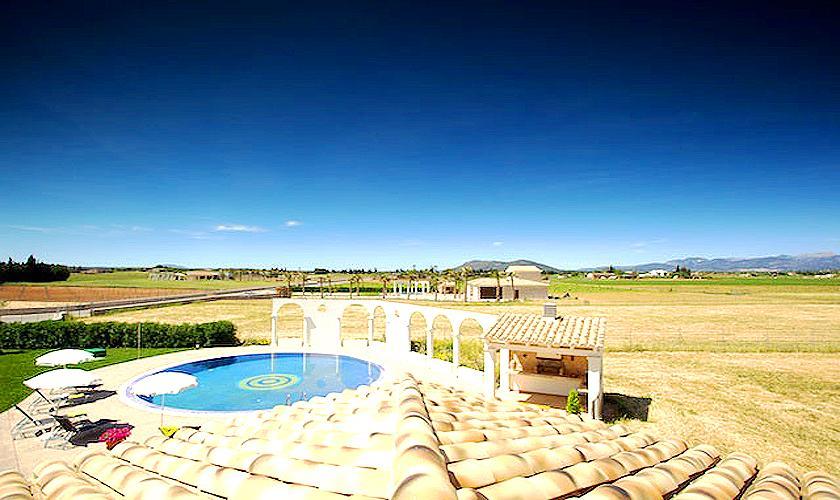 Blick von oben Ferienvilla Mallorca Norden PM 4272