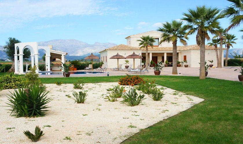 Blick auf die Ferienvilla Mallorca Norden PM 427
