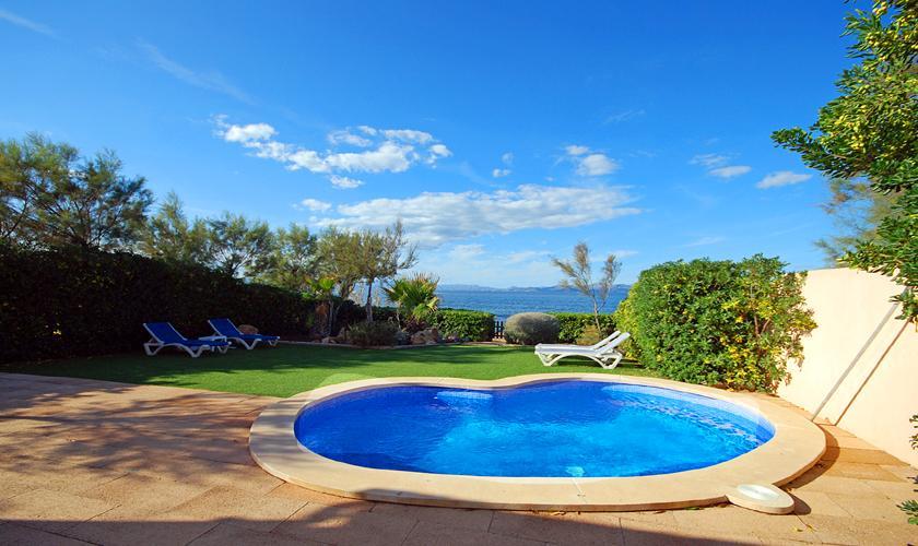 Pool und Meerblick Ferienhaus Mallorca PM 440