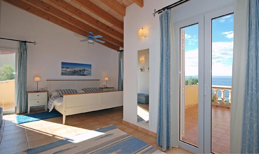 Schlafzimmer Ferienhaus Meerblick Mallorca PM 440