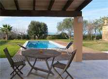 Terrasse Ferienhaus Mallorca Nordküste PM 442