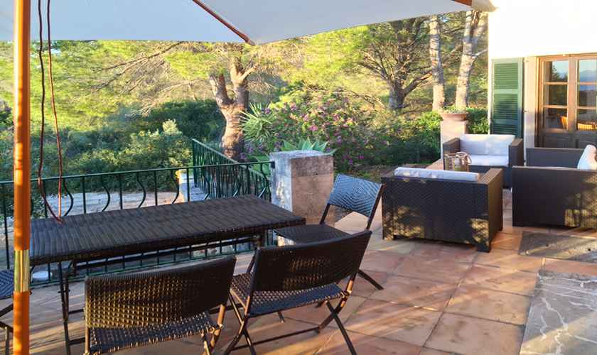 Terrasse Ferienfinca Mallorca 4 Personen PM 444