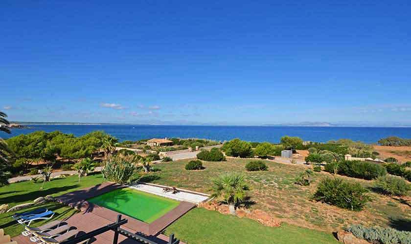 Pool und Meerblick Ferienvilla Mallorca Nordküste PM 450