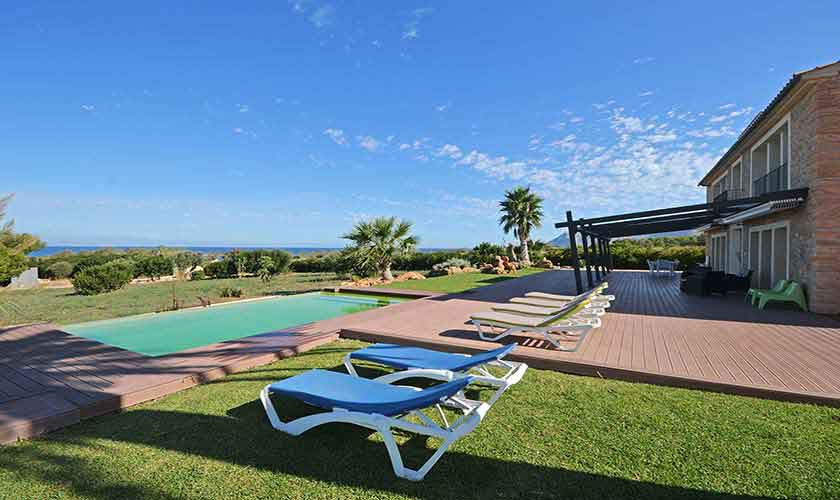 Terrasse Ferienhaus Mallorca Nordküste PM 450