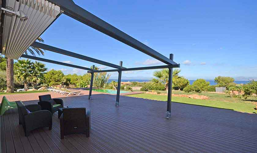 Terrasse Ferienvilla Mallorca Nordküste PM 450