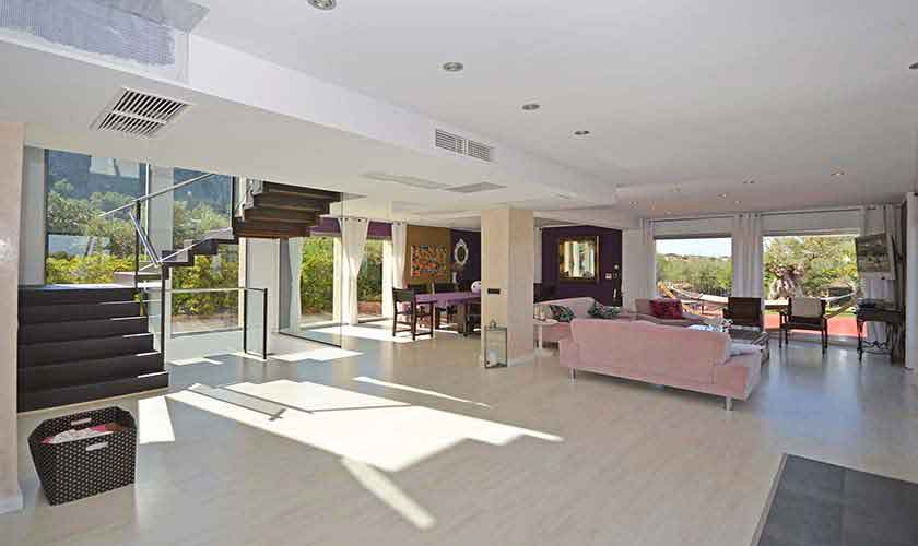 Wohnraum Ferienvilla Mallorca Nordküste PM 450