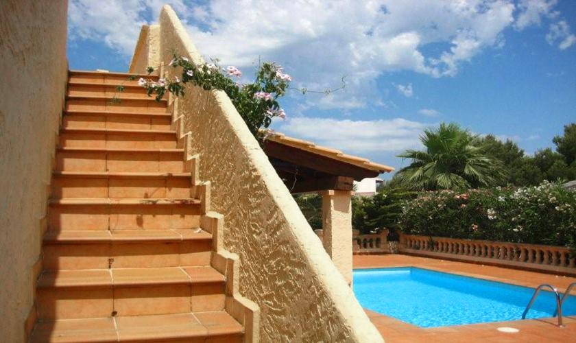 Dachterrasse Ferienhaus Mallorca PM 460