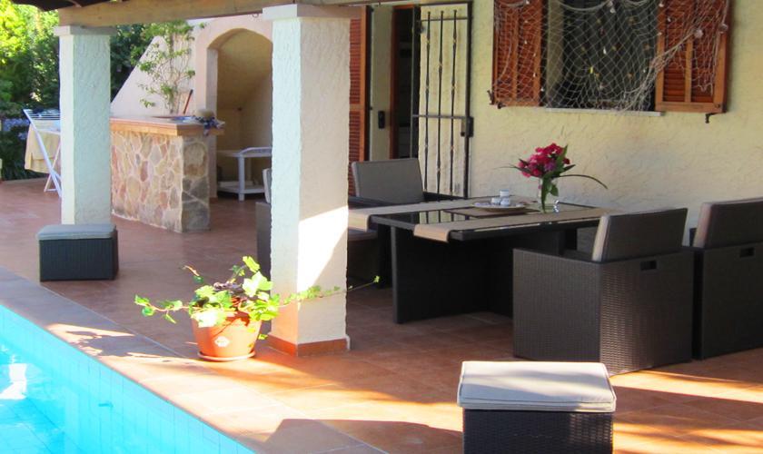 Pool und Terrasse Ferienhaus Mallorca PM 460