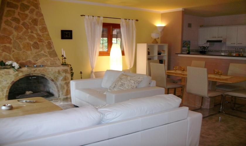 Wohnraum Ferienhaus Mallorca Nordküste PM 460
