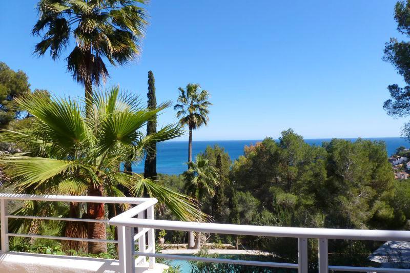 Terrasse und Meerblick Ferienvilla Mallorca PM 503