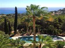 Blick auf den Pool Ferienvilla Mallorca PM 503