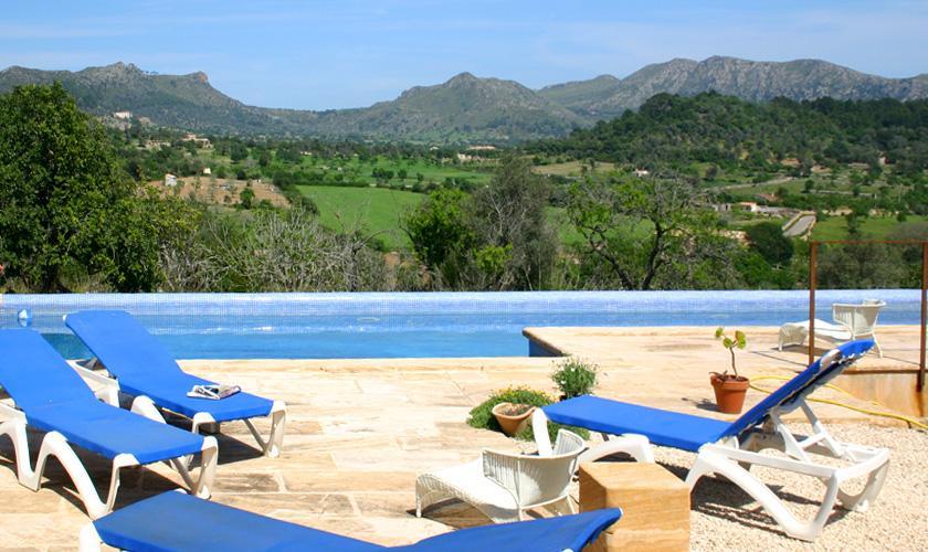 Poolblick  Finca Mallorca bei Arta PM 505
