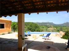Terrasse  Finca Mallorca bei Arta PM 505