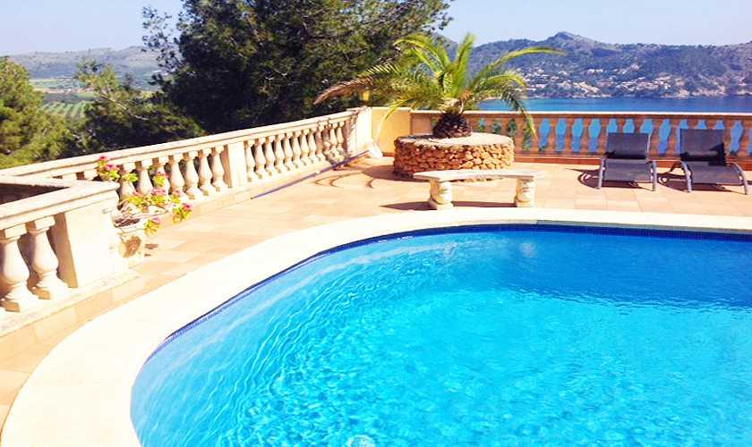 Pool und Meerblick Ferienvilla Mallorca Ostküste PM 506