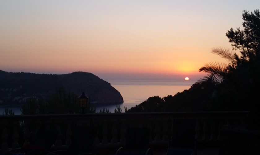 Sonnenuntergang Ferienvilla Mallorca PM 506