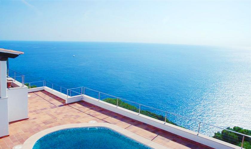 Pool und Meerblick Ferienhaus Mallorca PM 508