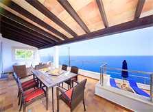 Terrasse und Meerblick Ferienhaus Mallorca PM 508