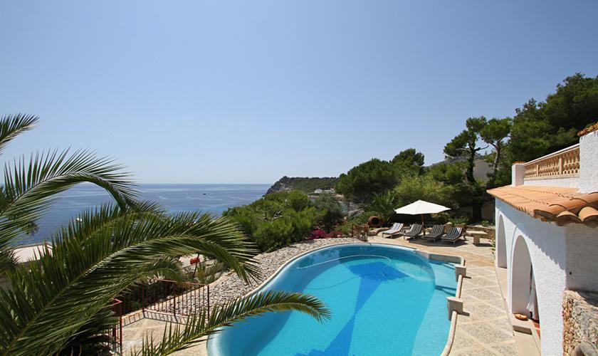 Pool und Meerblick Ferienvilla Mallorca Ostküste PM 511