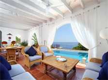 Terrasse Ferienvilla Mallorca Ostküste PM 511