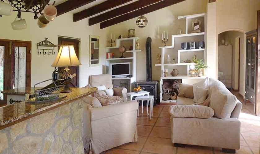 Wohnraum Ferienfinca Mallorca Nordosten PM 5208