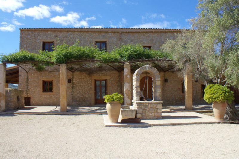 Blick auf die Ferienfinca Mallorca PM 520