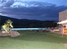 Pool bei Nacht Ferienfinca Mallorca PM 520