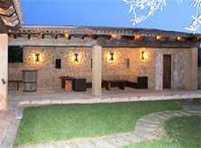Überdachte Terrasse Ferienfinca Mallorca PM 520