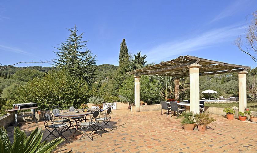 Terrasse und Barbecue Finca Mallorca PM 5235