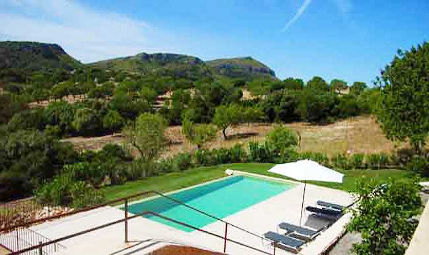 Poolblick Finca Mallorca Nordosten PM 523