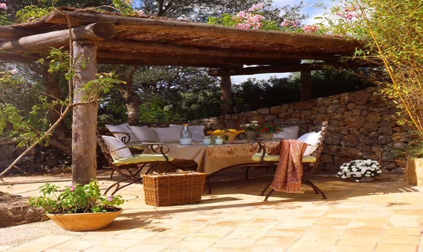 Terrasse Exklusive Finca Mallorca 10 Personen PM 534