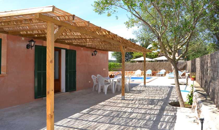 Terrasse Ferienfinca Mallorca Nordosten PM 5351