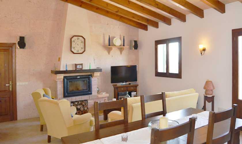 Wohnraum Ferienhaus Mallorca Nordosten PM 5351