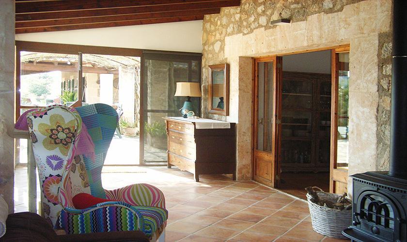 Wohnraum Ferienfinca Mallorca Nordosten PM 5372