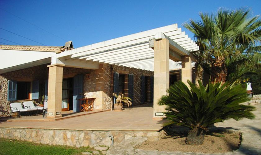 Terrasse Ferienfinca Mallorca für 8 Personen PM 5396