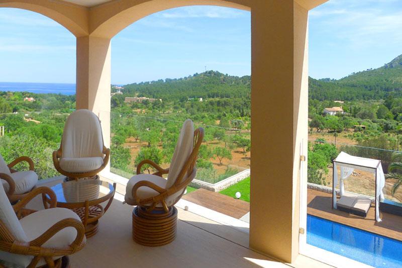 Terrasse oben Ferienvilla Mallorca Ostküste PM 5398