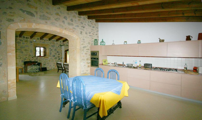 Küche Ferienfinca Mallorca Nordosten PM 5412