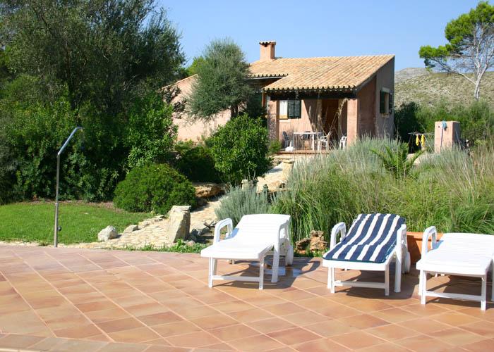 Blick auf die Finca Mallorca Nordosten 2-4 Personen PM 541