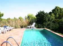 Privatpool der kleinen Finca Mallorca Nordosten 2-4 Personen PM 541