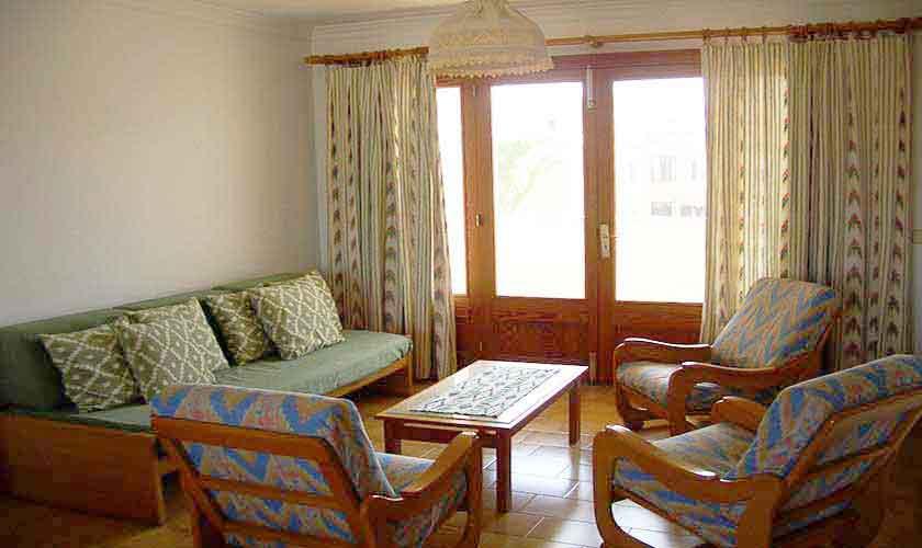 Wohnraum Ferienwohnung Cala Ratjada Mallorca PM 546