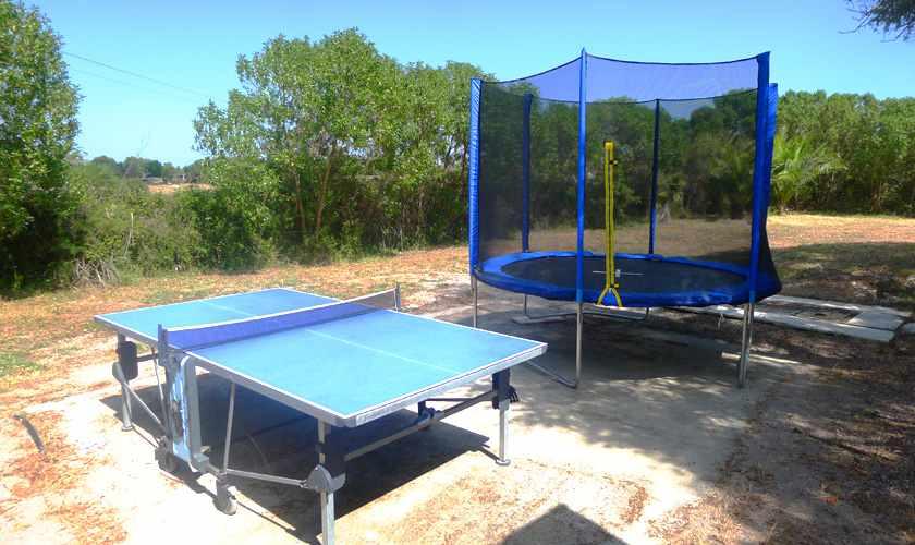 Tischtennis und Trampolin Finca Mallorca PM 5491